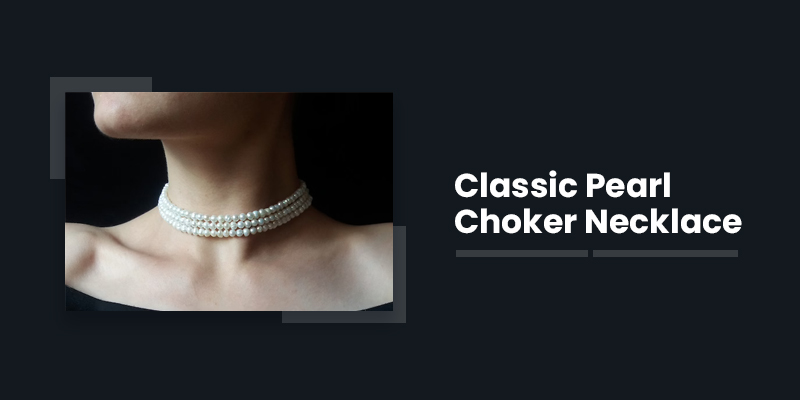 Classic Pearl Choker Necklace