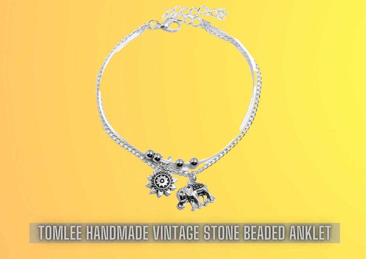 Tomlee Handmade Stone Beaded Anklet