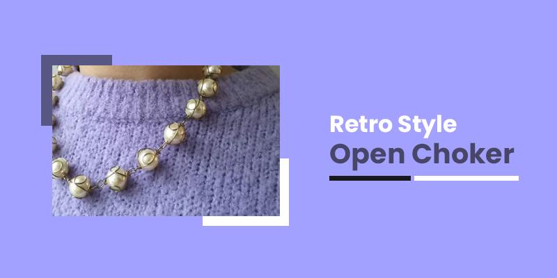 Retro Style Open Choker